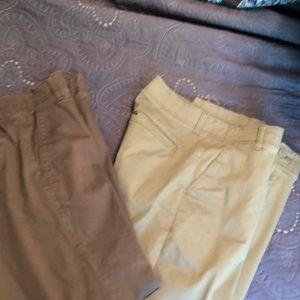 2 pair of lee pants